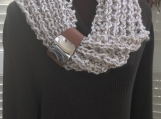 Mobius Scarf with Fingerless Gloves Set  - Oatmeal