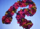 Frilly Bright Multi-Colored Scarf