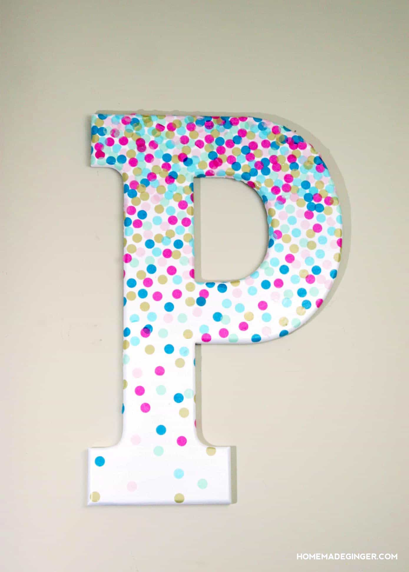 Learn how to make decorative letters using confetti and Mod Podge! This project is perfect for a kids