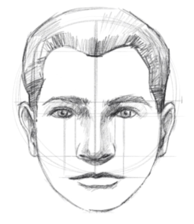 How to draw a face step by step - step - 10 - Draw the hair