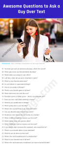 Questions to Ask a Guy Over Text Image
