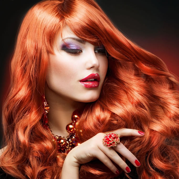 Attractive Red Wavy Hairstyles for Long Hair 2017
