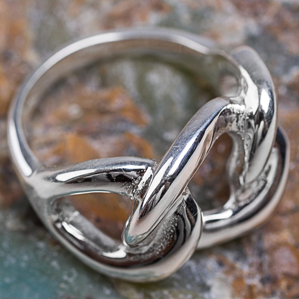 Hand Crafted Sterling Silver Band Ring from the Andes,