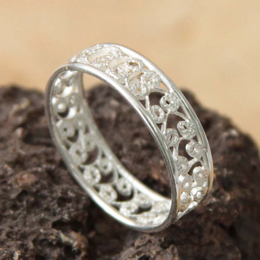 Sterling Silver Filigree Ring from Peru,