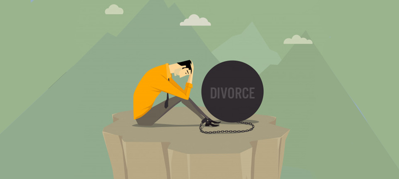 hard to cope with divorce
