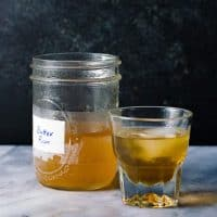 Butter Rum - Fat washing alcohol is a simple yet very effective way to infuse alcohol with rich fat-based savory flavor. Here